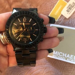 Micheal Kors black ceramic watch
